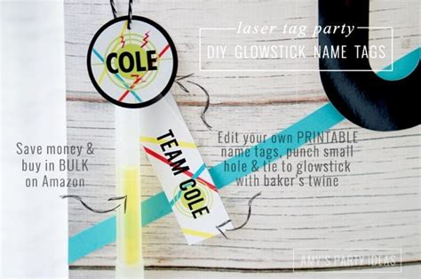 laser printable name tags laser tag party ideas amy s party ideas