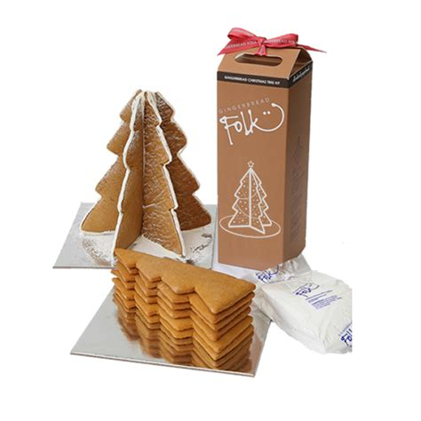 christmas tree kit 600g gingerbread folk