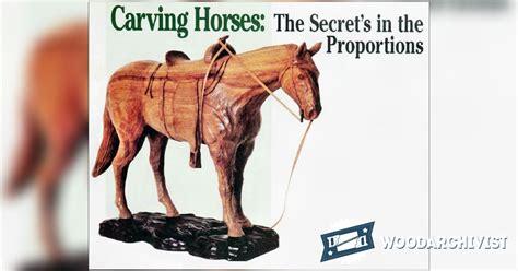 Carving Horse ? WoodArchivist