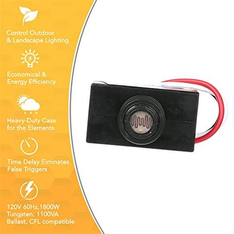 photo eye sensor l post woods 59408wd outdoor hard wired post eye light control