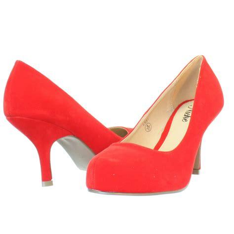 Nena High Heels N Co T 7cm womens mid low kitten heel suede work evening