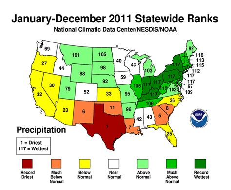texas weather map temps national climate report annual 2011 state of the climate national centers for