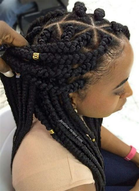 twists in front and loose in back jumbo box braids 4 pinteres