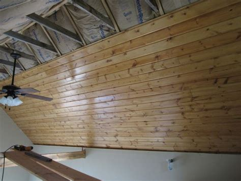 How To Hang Tongue And Groove Ceiling by It S Fairly Common For Tongue And Groove Boards To Be