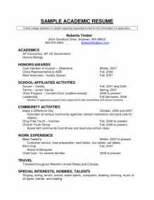College Application Resume Outline Job Resume Sample Sample Resume Scholarship Application