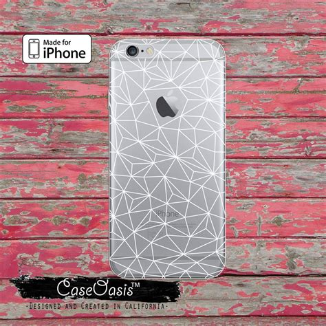 Geometric Softcase Iphone 5 5s 6 6s 6 6s 7 7 8 8 Plus geometric white line inspired clear for iphone 6 iphone 6 plus iphone 6s iphone