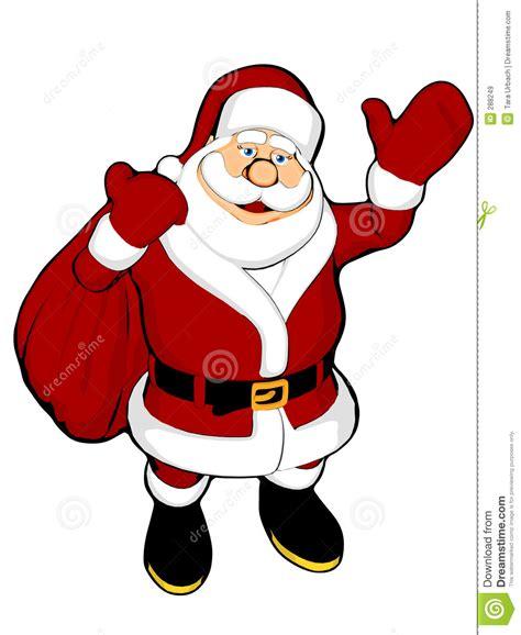 anmated waving snata waving santa with sack royalty free stock images image 288249