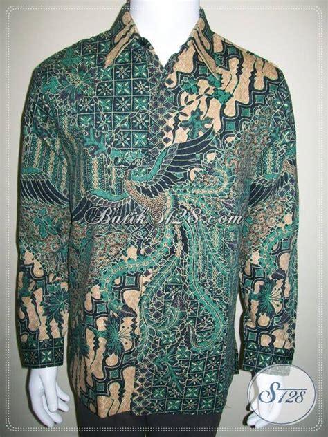 Batik Sarimbit Gradasi Doby Cap kemeja batik doby lengan panjang warna hijau batik dolby