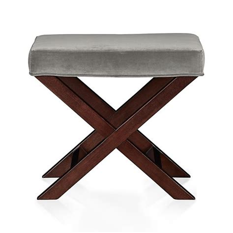 X Base Bench Stool by X Base Bench Vanity Stool Nickel Crate And Barrel