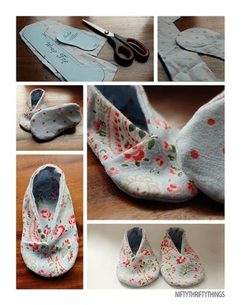 cute pattern shoes 10 cute and cozy diy slipper ideas