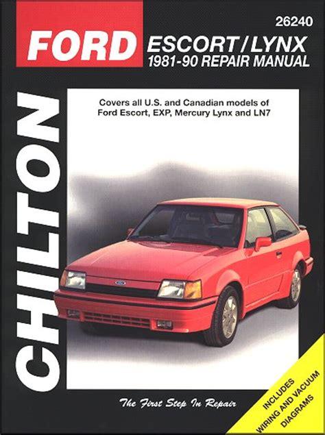 service manual 1987 ford exp repair manual free download service manual 1992 mazda navajo ford escort exp mercury lynx ln7 repair manual 1981 1990