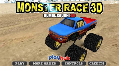 3d monster truck racing games online monster race 3d funny car games