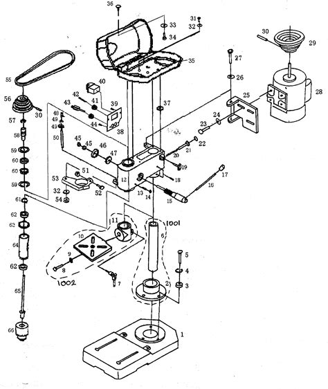 drill press parts diagram drill press parts diagram pictures to pin on