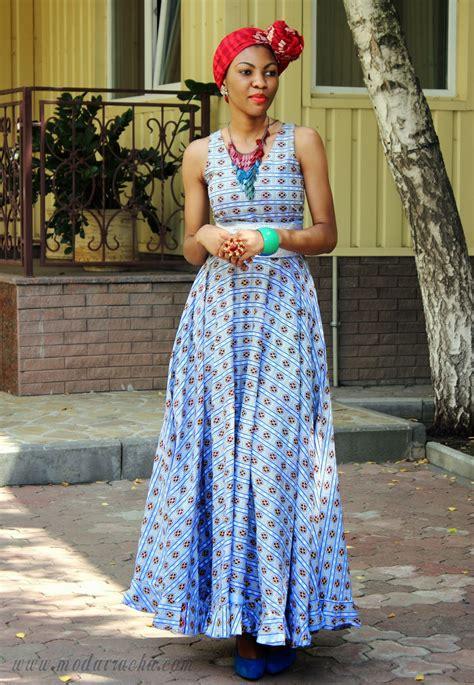 african prints long dress