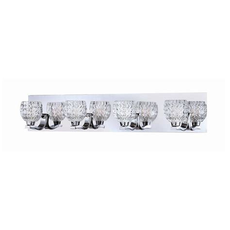 home depot bath bar lighting wave collection 4 light chrome bath bar light 25729 016