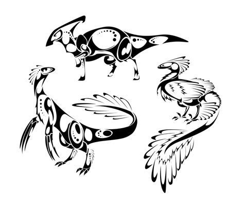 tribal dinosaur tattoo tribal dinosaurs by thepioden on deviantart