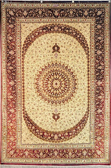 Qum Shirazi Silk Persian Rug Item Pa 359 Rug Silk