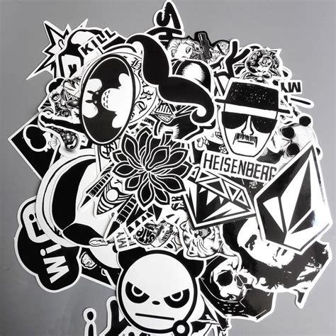 pcslot anime cool black white graffiti stickers