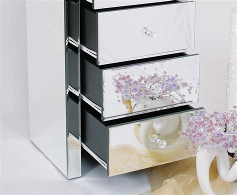 extra large mirrored chest of drawers amora mirrored 5 drawer tall chest