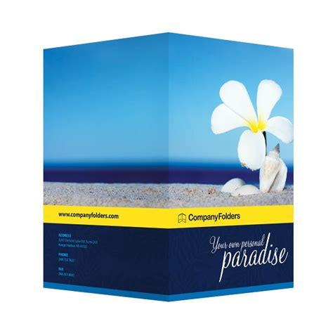 Free Template Beach Paradise Pocket Folder Design Folder Design Template Free