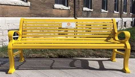 the yellow bench rmc fencing unveils friendship bench e veritas