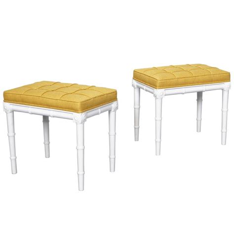 faux bamboo l vintage faux bamboo stools for sale at 1stdibs