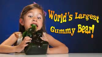 world s 4 year old devours world s largest gummy bear youtube