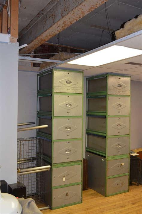 steel meat locker storage cabinet  drawer unit  stdibs