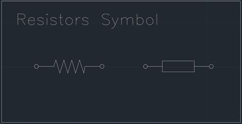 resistors symbol free cad block and autocad drawing