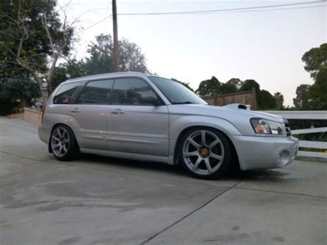 slammed subaru forester buy used 2004 subaru forester xt 5 speed stanced slammed