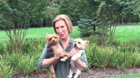 dogs fiorina sings to terriers in