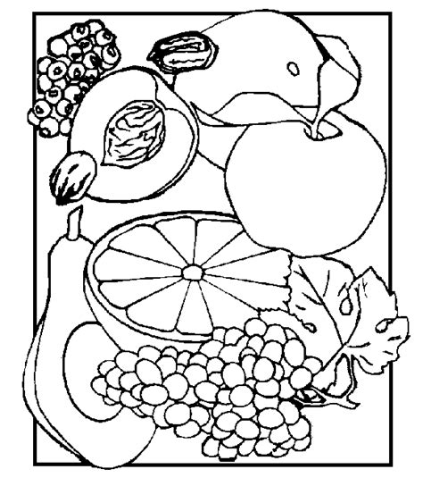 fruit and vegetables coloring printables coloring pages