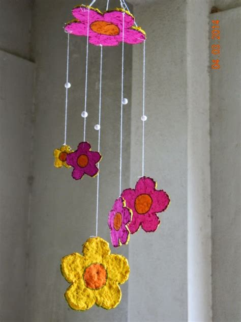 how to make waste paper craft wall hanging winky crafts