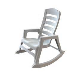 High Back Patio Chair Shop Adams Mfg Corp White Resin Stackable Patio Rocking