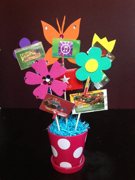 gift card bouquet better to give than to receive pinterest - Gift Card Bouquet