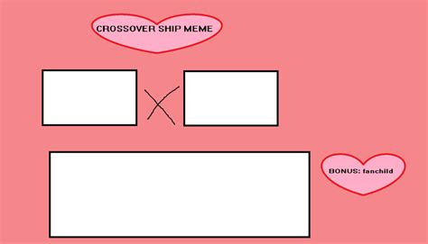 Meme Template Download - crossover ship meme template by motherfan142 on deviantart