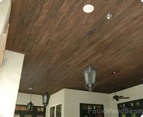 Plank Ceiling System Faux Wood Ceiling Systems Literally Cut Glue