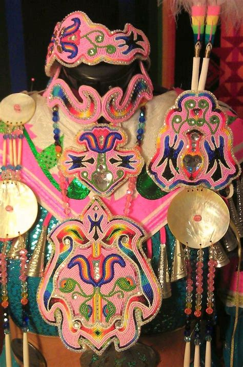 beadwork pink s pink beadwork set and jingle dress www