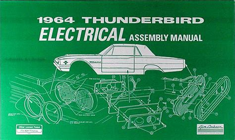 electric and cars manual 1965 ford thunderbird engine control 1964 thunderbird electrical assembly manual wiring diagrams 64 ford t bird tbird ebay