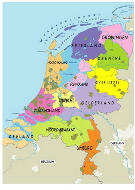 netherlands map of provinces niederlande regionen karte