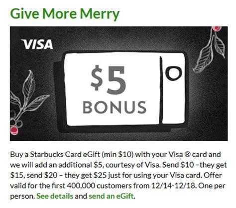 Starbucks Send A Gift Card - starbucks 15 gift card for just 10