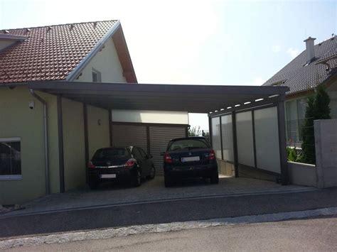 aluminium carport mit abstellraum doppelcarport aus aluminium mit eindeckung aus