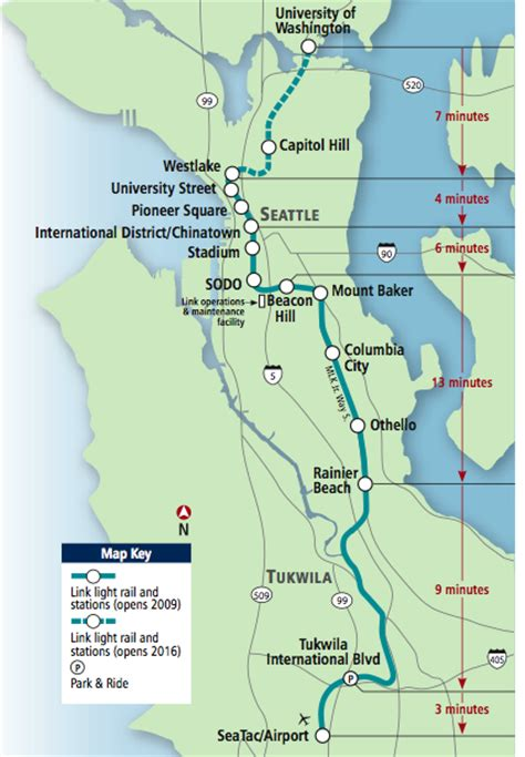 seattle map airport to downtown no airport express for light rail chs capitol hill seattle