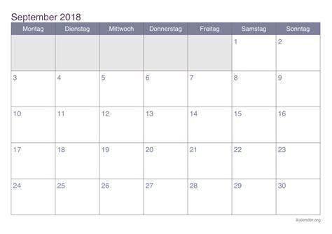 kalender september  zum ausdrucken ikalenderorg