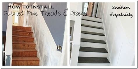 Oak Banister Makeover Week 20 How To Install New Stair Treads Southern