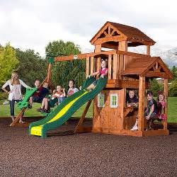 backyard discovery tanglewood backyard discovery tanglewood cedar wooden swing set