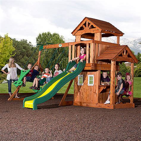 cedar wood swing sets backyard discovery tanglewood cedar wooden swing set