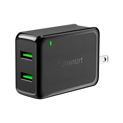 Tronsmart Car Charger Qc 3 0 Dual Port Type A And C tronsmart w2tf 36w dual port qualcomm charge 3 0 voltiq wall charger tronsmart