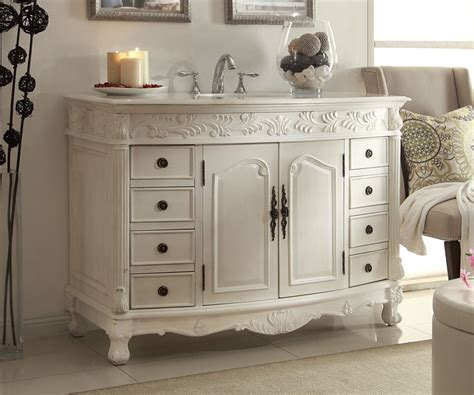 Florence Vanity by 48 Antique White Florence Bathroom Sink Vanity Q036w Aw
