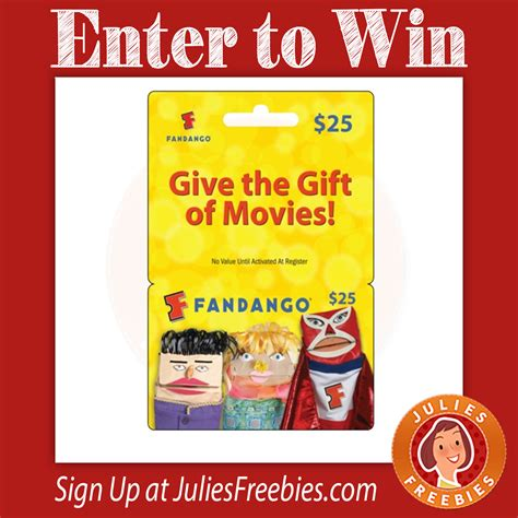 Fandango Gift Card Deals - win a 300 fandango gift card julie s freebies